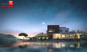 DUY TÂN NGUYỄN | DREAM HOUSE | SKETCHUP 2016, V-RAY 2.0, PHOTOSHOP CS5
