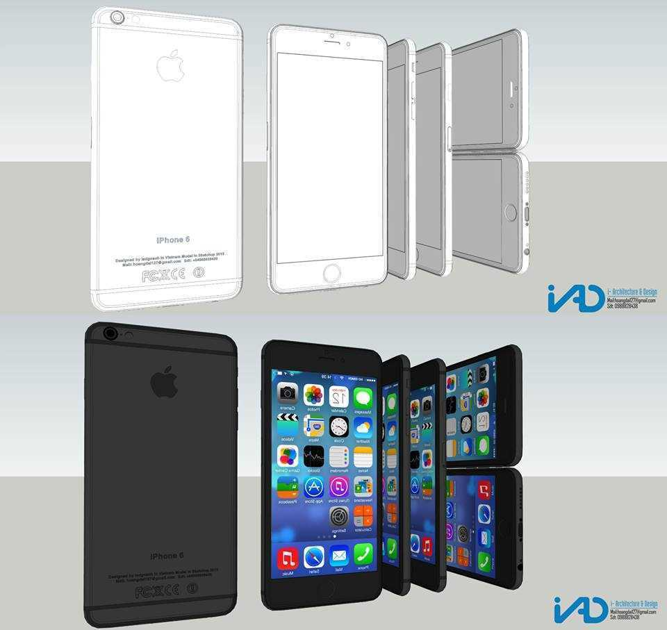 Thumbnail Model sketchup Iphone 6 - by (Iad Gnaoh)