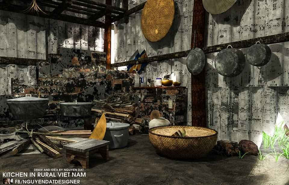 Thumbnail Kitchen in rural Vietnam - Nguyen Dat