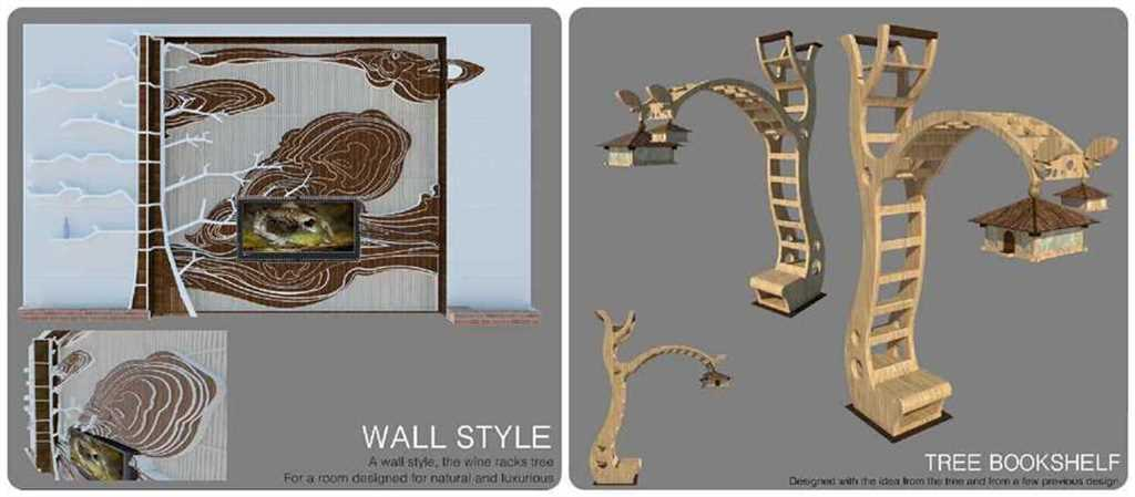 Thumbnail Bookshelf tree and wall tree - Nguyễn Đạt