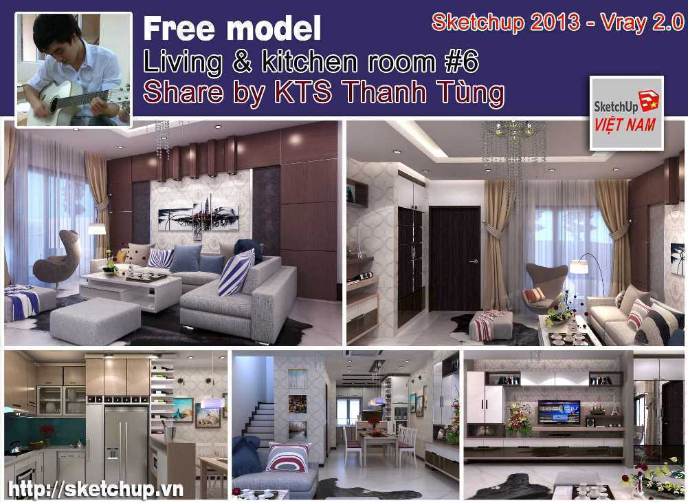 Thumbnail Living & Kitchen room #6 - Thanh Tùng