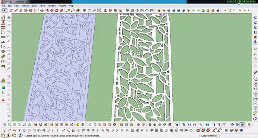 Modeling a CNC wall very fast